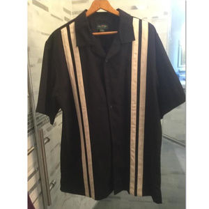 David Tylor Men's Bowling Shirt XL TL Black/White
